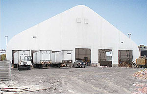 fabric building warehouse storage
