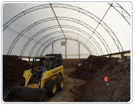 Plenty of room inside compost building