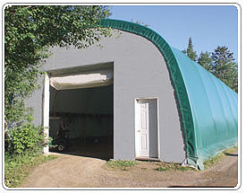 Steel Truss, Fabric Covered, Building Solutions for Golf Cart Storage Buildings - Milestones Building & Design