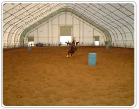 Janet & Sid Erickson's Riding Arena - A Dream Come True