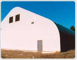 Milestones Building & Design Fabric Covered Public Works Buildings 2 -  Water Reservoir Cover