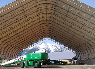 Fabric Structures - Industrial Buildings - Hampton Bulk Fuel Storage - Milestones Building and Design