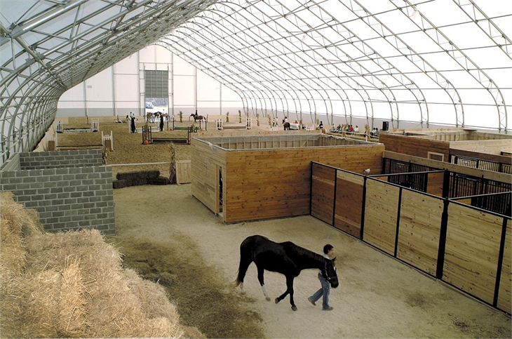 Fabric Covered Buildings Photos Images Of Equestrian Arenas