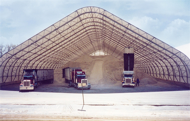 Mbd Fabric Covered Buildings Photos Salt And Sand Storage